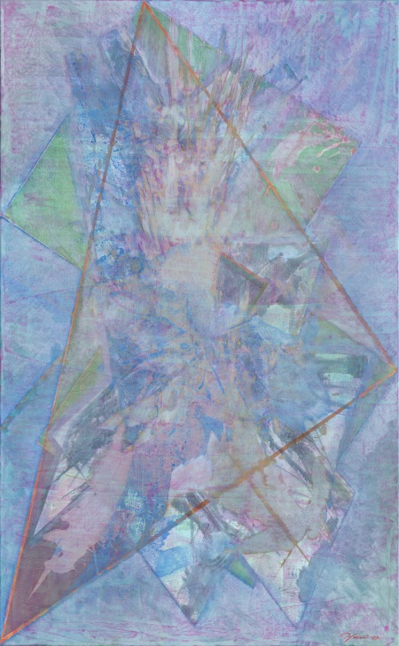 Triangulation Series #25--oil on linen, 60 x 37 inches, 2009