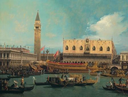 Saludo al Palacio Ducal por el vedutista símbolo de Venecia Antonio Canaletto 1697-1768,