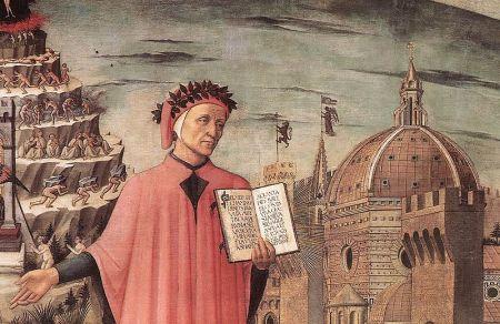 Dante (detalle), Domenico di Michelino, Florencia 1465